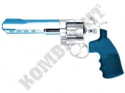 CS06 Magnum Revolver Replica Co2 Powered Silver Metal Airsoft BB Gun 2 Tone Blue
